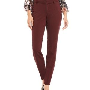 KUT from the Kloth, Trouser Skinny Pants Burgundy